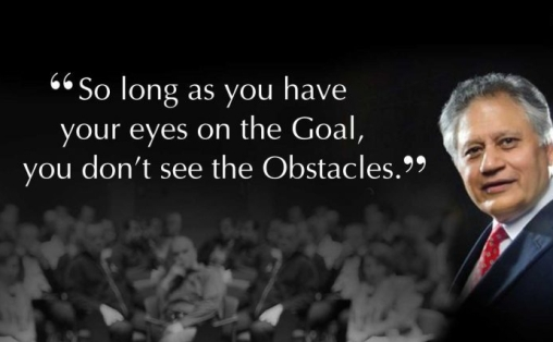 So long as you have your eyes on the goal, you don't see the obstacles
